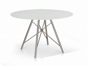 Küchentisch Rund 80 Cm : wei er esstisch runder tisch k chentisch 120 cm rund wei edelstahl domino ebay ~ Bigdaddyawards.com Haus und Dekorationen