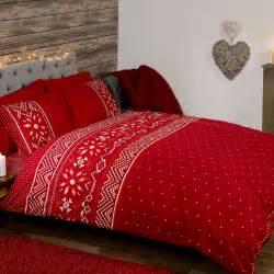 christmas festive duvet cover sets bedding adults single