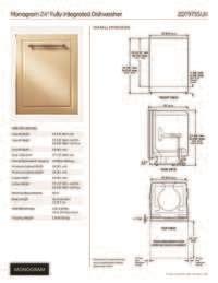 ge monogram zdtsijii   built  fully integrated dishwasher   place settings