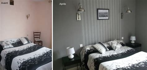 decoration papier peint chambre duo creativ décoration chambre grise duo creativ