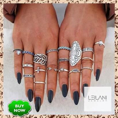 Rings Ring Tanzanite Leaf Sets