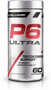 Cellucor P6 Ultra Testosterone Booster For Men  Build Strength  U0026 Cognitive Function  Boost