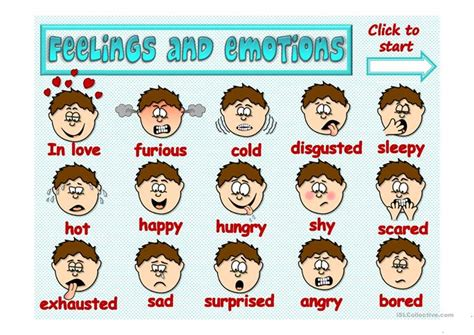 Feelings And Emotions  Game Worksheet  Free Esl Projectable Worksheets Made By Teachers