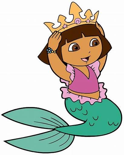 Dora Mermaid Explorer Cartoon Clipart Clip Character