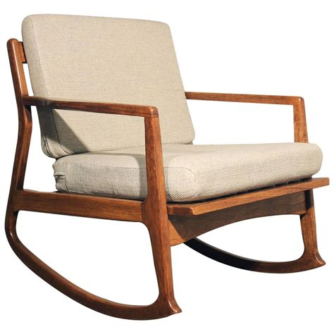 modern teak rocking chair at 1stdibs