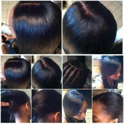 Middle Part Braid Pattern for Sew in Closure