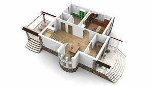 Modern, House, With, Interior, 3d, Model, Obj, 3ds, Stl