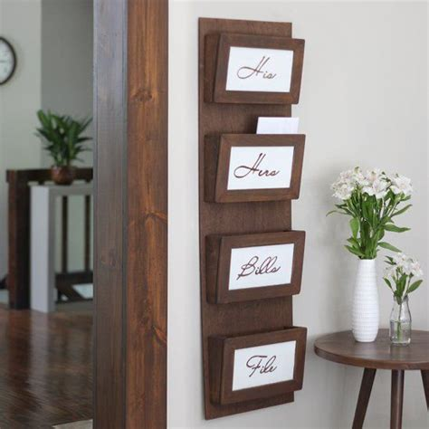 wall mail sorter clear your clutter with this simple diy mail sorting 3318