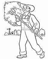 Coloring Pages Preschool Community Farmers Helpers Farm Books Printable Collecting Farmer Colouring Grass Sheets Grow Hat Wouldn Kid Workers Citizen sketch template