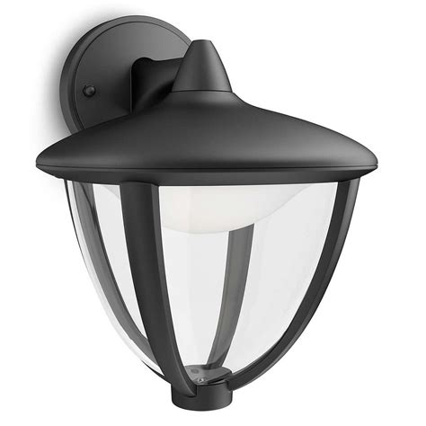 philips 15471 30 16 robin black led outdoor down lantern