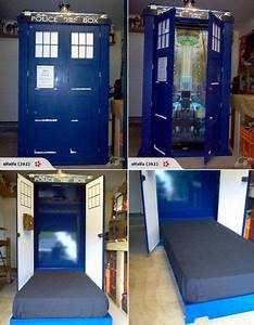 Doctor Who Tardis bed... I need this!