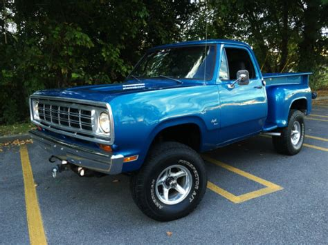1972 dodge power wagon adventurer 4x4 rare classic muscle truck viper blue for sale dodge