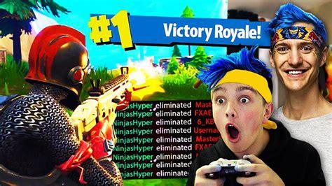 pretended   ninja won  fortnite game
