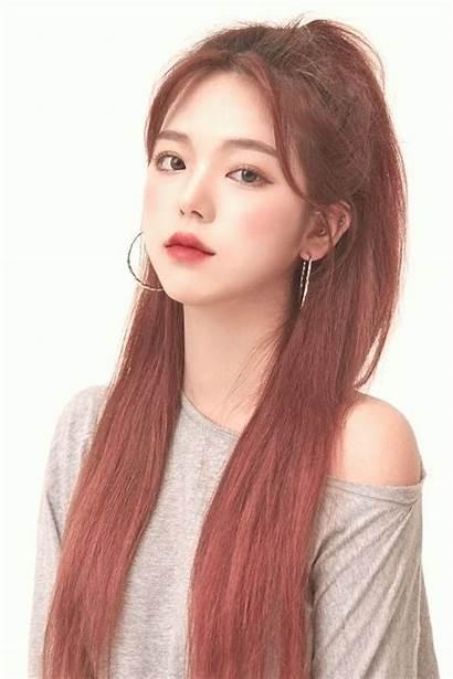 Korean Hairstyles Hairstyle Female Cabello Bangs Asian