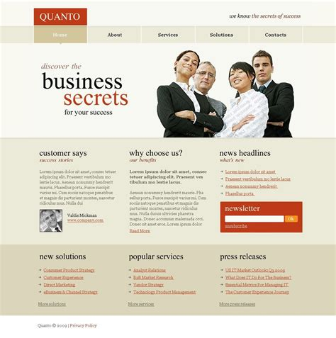 free psd website templates free psd templates free psd website template template