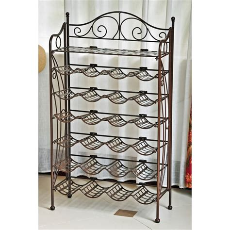 wrought iron wine racks international caravan mandalay 24 bottle wrought iron wine