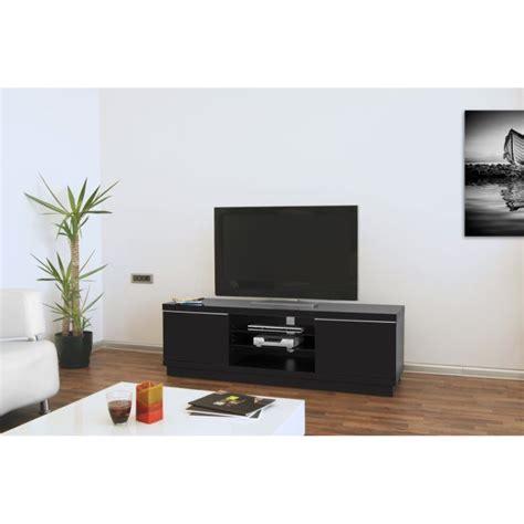 meuble tv bas noir pas cher