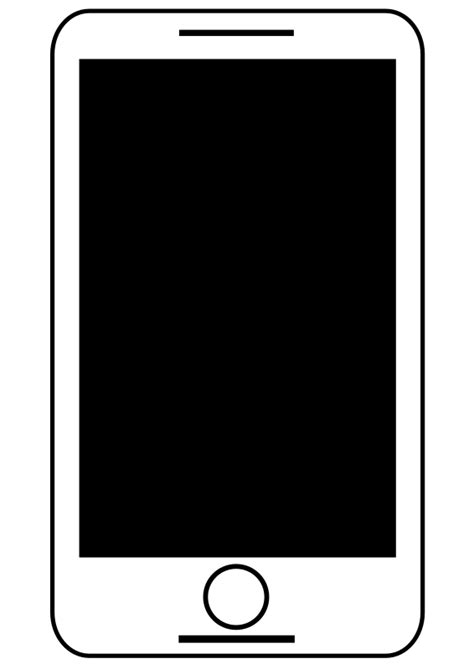 smartphone black and white mobile phone clipart black and white www imgkid