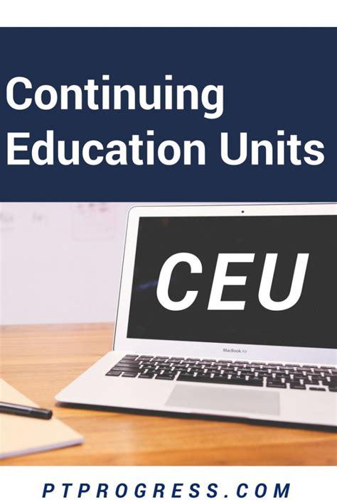ceu   continuing education
