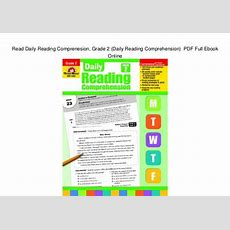 Read Daily Reading Comprenesion, Grade 2 (daily Reading Comprehension…