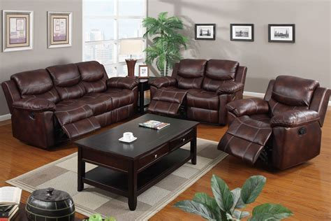 Loveseat Sectional Sofa by Leather Reclining 3pc Sofa Set Poundex F7067 Sectionals
