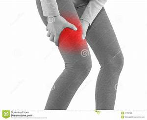 Human Calf Pain With Medical Health Care Concept  Stock Photo