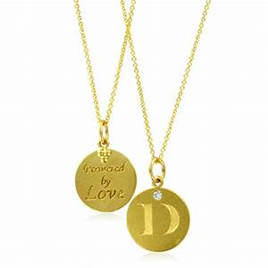 initial necklace letter d diamond pendant with 18k yellow With letter d diamond pendant