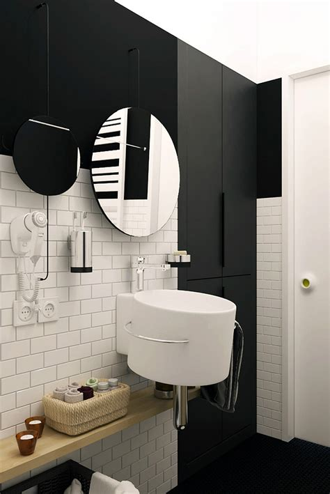 tiny apartment  black  white charms  space saving
