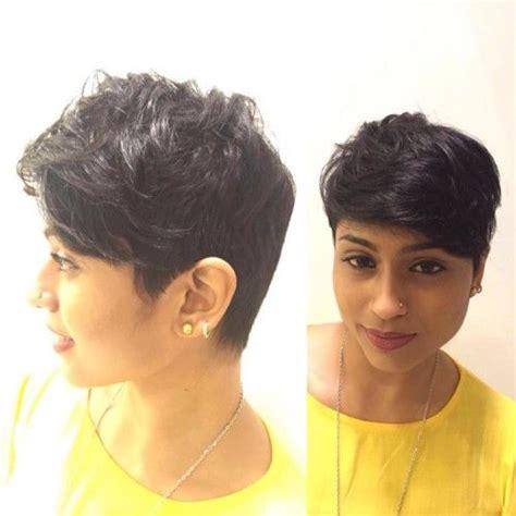 trendy short boycut  indian face short indian