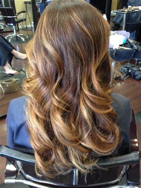 Brown Ombre With Blonde Highlights Hair Ideas Pinterest