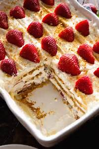 Light Summer Desserts No Bake Strawberry Cheesecake Icebox Cake Recipe This
