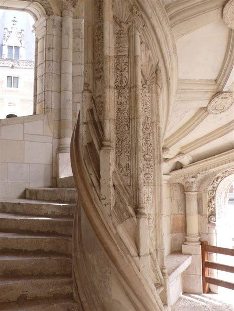 renaissance staircase at blois castle escalier