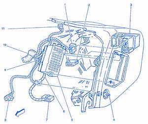 Chevrolet S10 2 2l 1999 Passenger Side Electrical Circuit