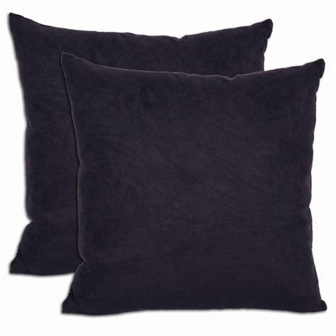 Black Throw Pillows by Black Throw Pillows Set Of 2 Microsuede Feather