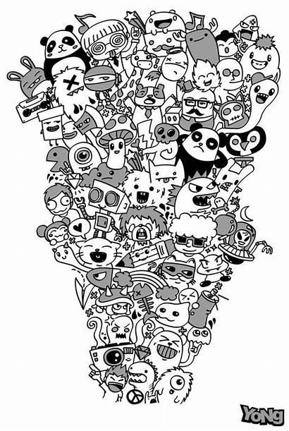 Doodle Coloring Doodles Labradoodle Adult Invasion Pages