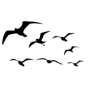chambre ado fly sticker mural de mouette vol autocollant oiseaux oiseau de