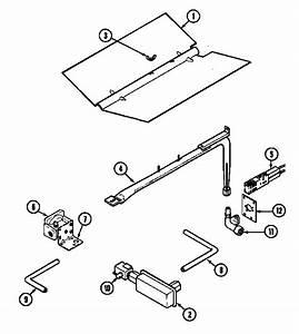 Gas Controls Diagram  U0026 Parts List For Model 9122xpb Magic