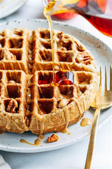 apple cinnamon oatmeal waffles thyme for health