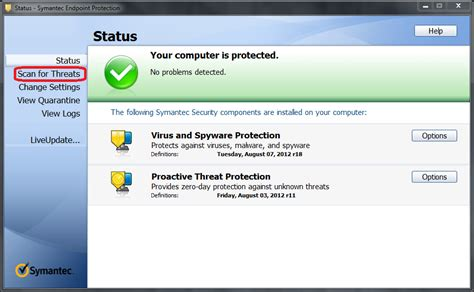 symantec endpoint protection win running  full virus scan