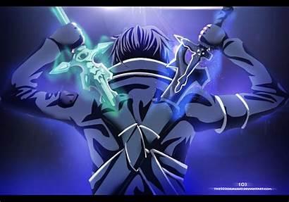 Kirito Dual Sword Anime Deviantart Sao Swords