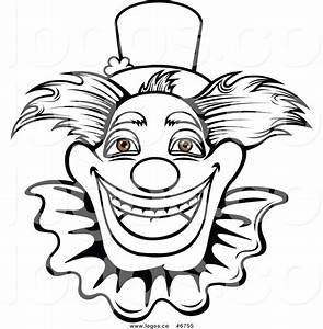 Clown Face Clip Art Black and White – Cliparts
