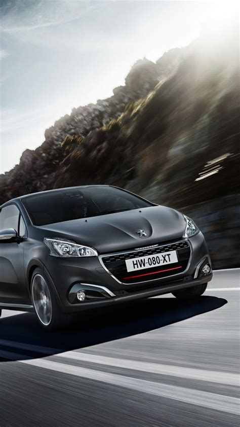 Peugeot 208 Backgrounds by Wallpaper Peugeot 208 Gti Hatchback Gray Rocks Cars