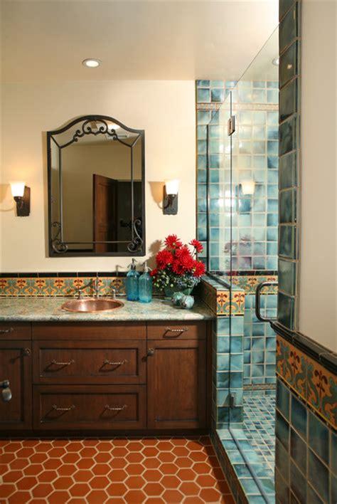 Spanish Revival Restoration  Mediterranean  Bathroom