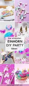 Party Deko Ideen Selbermachen : 7 originelle einhorn party diy ideen zum selbermachen ~ Markanthonyermac.com Haus und Dekorationen