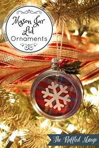 Mason, Jar, Lid, Ornaments