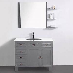 meuble salle de bain gris pas cher With meuble miroir salle de bain pas cher