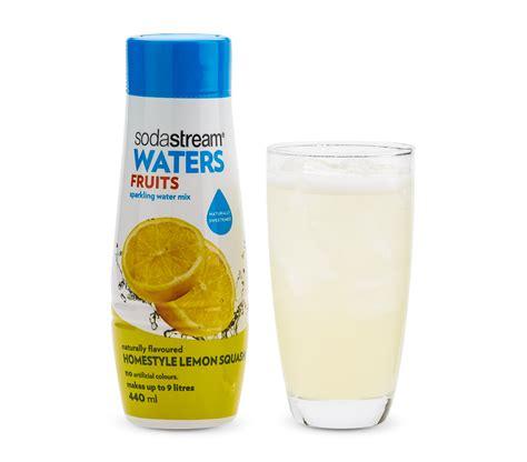 sodastream glass bottles flavours fruits homestyle lemon squash 440ml sodastream