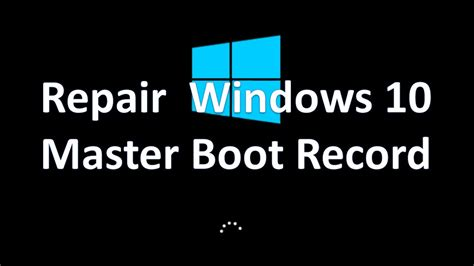 How Reset And Repair Windows 10 Master Boot Record  Youtube