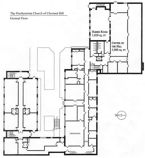 church floorplan ground floor presbyterian church chestnut hill