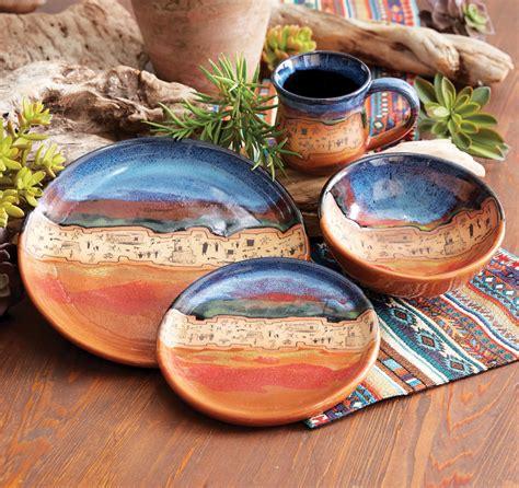 sonoran skies pottery dinnerware set  pcs